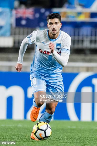 Paulo Retre of Sydney FC in action during the AFC Champions League 2018 Group H match between Suwon Samsung Bluewings vs Sydney FC at Suwon World Cup...