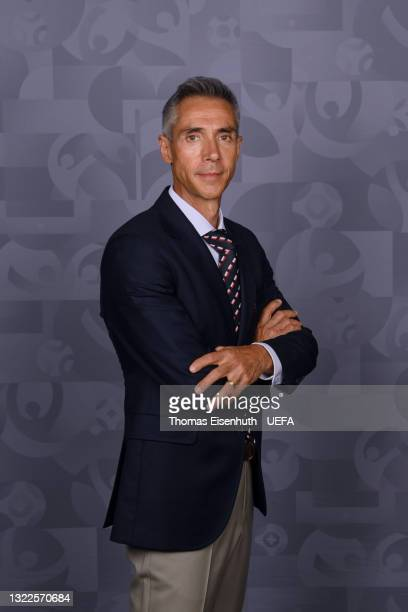 Paulo Sousa, Head Coach of Poland poses during the official UEFA Euro 2020 media access day on June 06, 2021 in Buk, Poland.