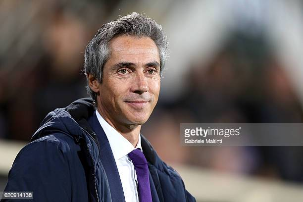 Paulo Sousa manager of ACF Fiorentina looks on during the UEFA Europa League match between ACF Fiorentina and FC Slovan Liberec at Artemio Franchi on...