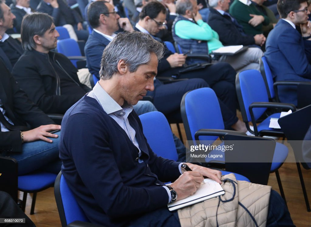 Paulo Sousa of Fiorentina attends at Italian Football Federation 'Panchine D'Oro E D'Argento' Prize at Coverciano on March 27, 2017 in Florence, Italy.