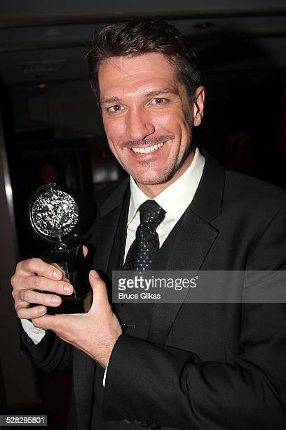 Paulo Szot pose in the press room in the press room during the 62nd Annual Tony Awards at Radio City Music Hall on June 15 2008 in New York City
