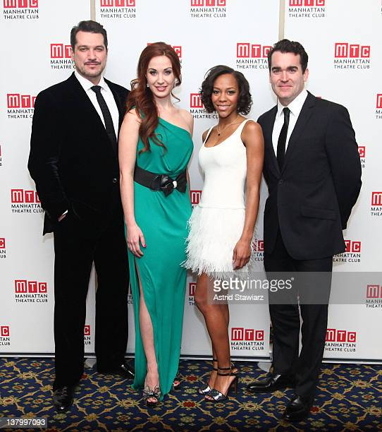 Paulo Szot Sierra Boggess Nikki M James and Brian D' Arcy James attend the 2012 Manhattan Theatre Club's Winter Benefit An Intimate Night at The...