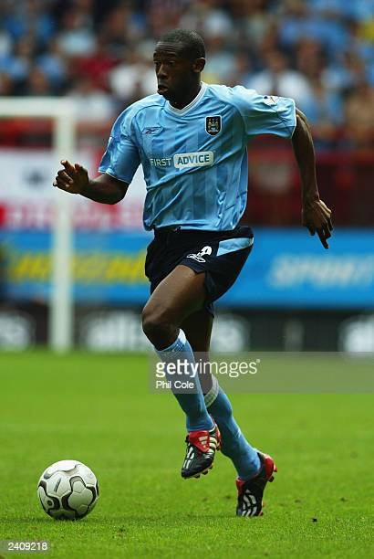 Paulo Wanchope of Manchester City running with the ball during the FA Barclaycard Premiership match between Charlton Athletic and Manchester City on...
