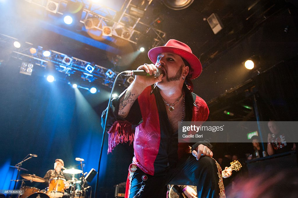 Paul-Ronney Angel of The Urban Voodoo Machine performs at KOKO on March 25, 2015 in London, England.
