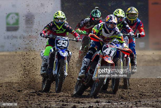 Pauls Jonass of Latvia and Red Bull KTM Factory Racing competes during the Day 1 of the MXGP Leon 2015 at Parque Metropolitano on September 12 2015...