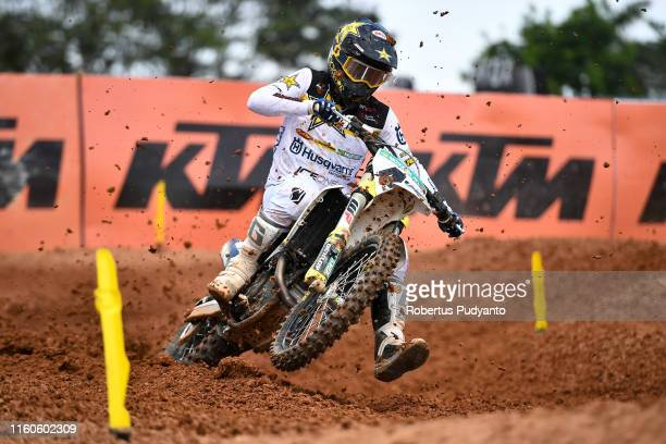 Pauls Jonass of Latvia and Rockstar Energy Husqvarna Factory Racing in action during the MXGP final race 1 of the FIM Motocross World Championship -...