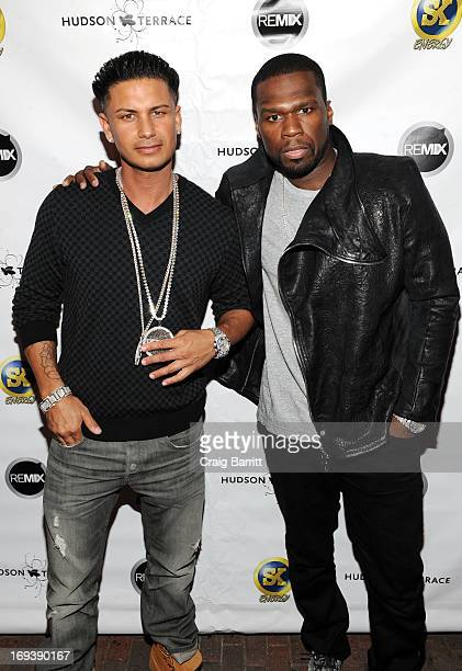 Pauly D and Curtis '50 Cent' Jackson attend Hot Summer Kick Off Party at Hudson Terrace on May 23 2013 in New York City