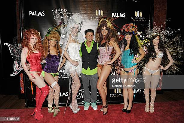 Pauly D arrives at 'A Midsummer Night's Dream An Enchanted Lingerie Masquerade' at Palms Pool Bungalows in the Palms Casino Resort on August 13 2011...