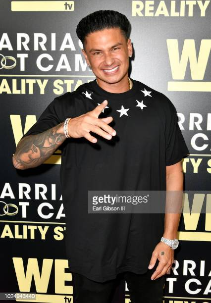 Pauly D attends the premiere of WE tv's Marriage Boot Camp Reality Stars at HYDE Sunset Kitchen Cocktails on August 28 2018 in West Hollywood...
