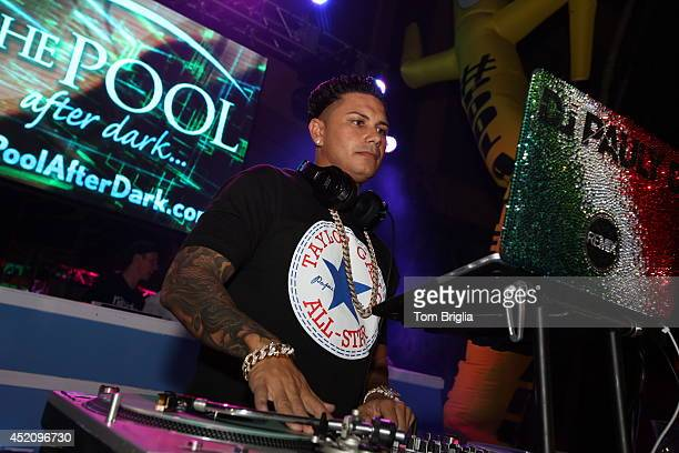 Pauly D performs at The Pool After Dark Harrahs Resort on Saturday July 12 2014 in Atlantic City United States