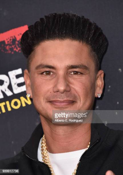 "Pauly DelVecchio attends the Premiere of MTV Network's ""Jersey Shore: Family Vacation"" at HYDE Sunset: Kitchen + Cocktails on March 29, 2018 in West..."