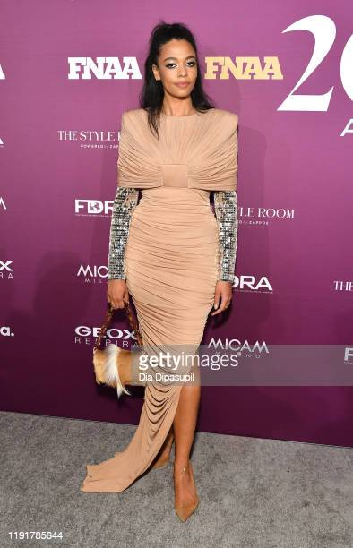 PAurora James attend the 2019 FN Achievement Awards at IAC Building on December 03 2019 in New York City