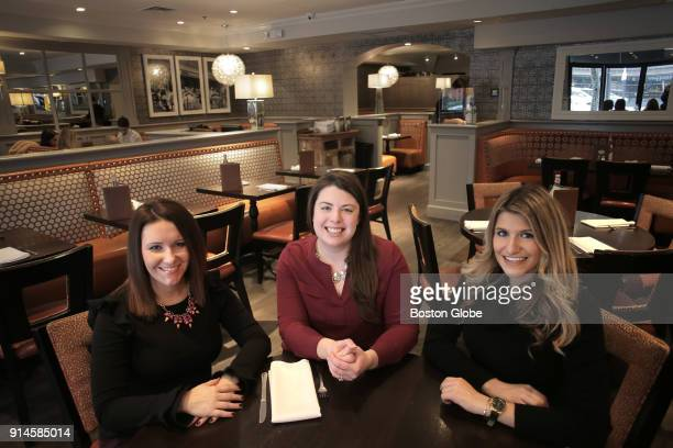 Pausing inside Stephanie's on Newbury are from left Erica Aylward Amanda Tassinari Hamedany Christina Attaway The Newbury Street Collaborative is an...
