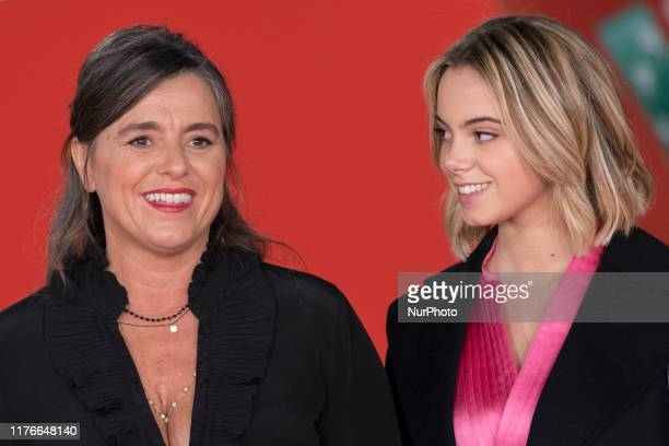"Pavarotti's daughter Giuliana Pavarotti, left, and grandaughter Caterina Lo Sasso, on the red carpet of the movie ""Pavarotti"", at the Rome..."