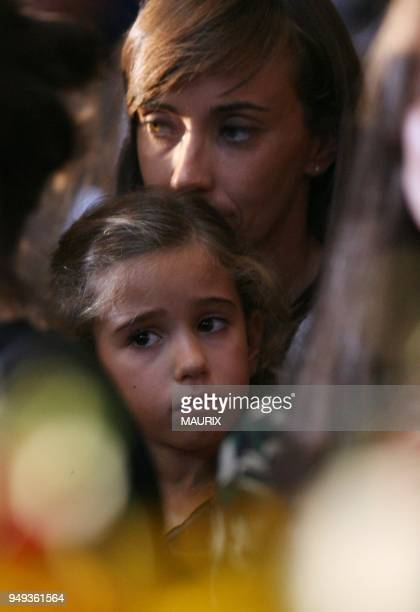 -Pavarotti's young daughter Alice-Funeral of italian tenor Luciano Pavarotti in Modena.