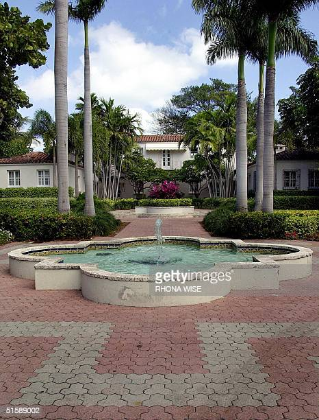 Paved steets walkways and fountains can be found scattered throughout Fisher Island an exclusive golf tennis and spa community located in South...