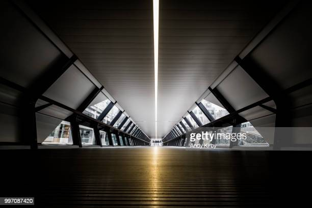 paved with gold - elevated walkway stock pictures, royalty-free photos & images