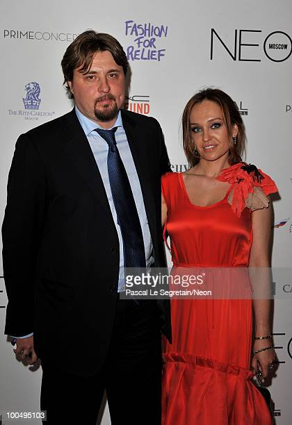 Pavel and Julia Kosov arrive at the NEON Charity Gala in aid of the IRIS Foundation at the Capital City on May 24 2010 in Moscow Russia