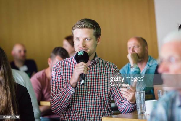 Pavel Brunssen of Transparent Magazine talks during the DFB Culture Foundation Jubilee Meeting at Millerntor Stadium on June 29 2017 in Hamburg...