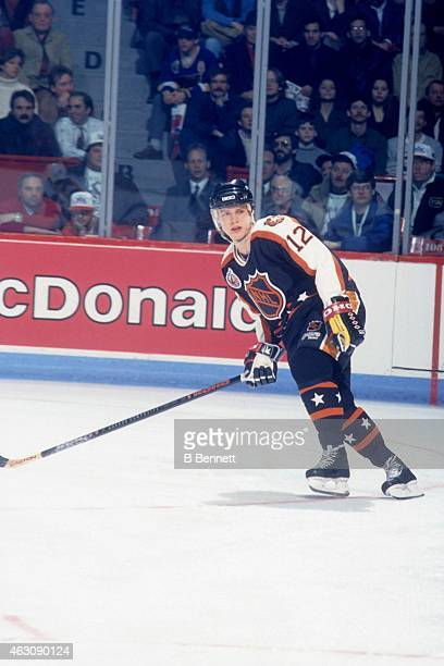 Pavel Bure of the Campbell Conference and the Vancouver Canucks skates on the ice during the 1993 44th NHL AllStar Game against the Wales Conference...