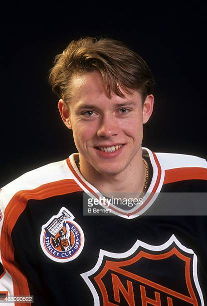 Pavel Bure of the Campbell Conference and the Vancouver Canucks poses before the 1993 44th NHL AllStar Game against the Wales Conference on February...