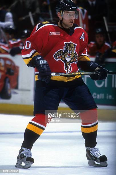 Pavel Bure of the Florida Panthers skates on the ice during an NHL game in January 2000