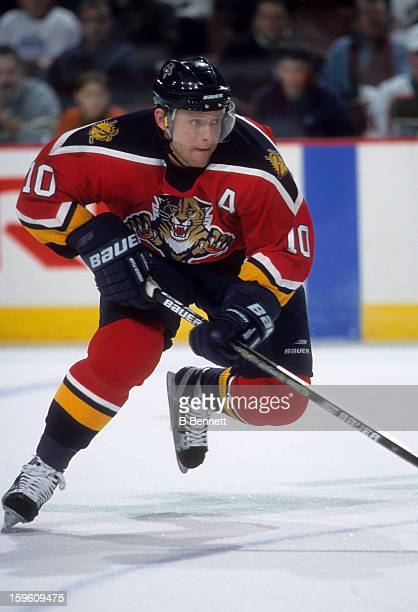Pavel Bure of the Florida Panthers skates on the ice during an NHL game against the Philadelphia Flyers on January 20, 2001 at the Wells Fargo Center...