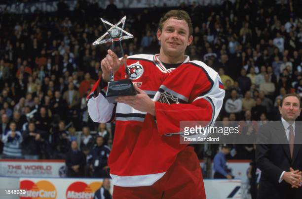Pavel Bure of the World team won the Most Valuable Player ward after leading the Wold Team to victory over the North American Team on the NHL AllStar...
