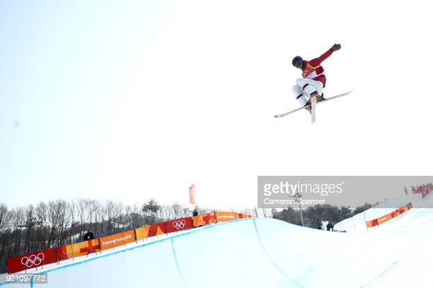 Pavel Chupa of Olympic Athlete from Russia competes during the Freestyle Skiing Men's Ski Halfpipe Qualification on day eleven of the PyeongChang...