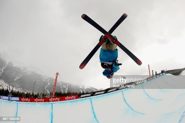 Pavel Chupa of Russia competes in a qualifying round of the FIS Freeski World Cup 2018 Men's Halfpipe during the Toyota US Grand Prix on December 6...