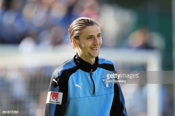 Pavel Cibicki of Malmo FF during the Allsvenskan match between Jonkopings Sodra IF and Malmo FF at Stadsparksvallen on June 3 2017 in Jonkoping Sweden
