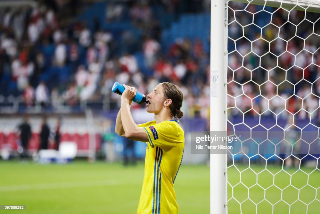 Pavel Cibicki of Sweden during the UEFA U21 match between Poland and Sweden at Arena Lublin on June 19, 2017 in Lublin, Poland.