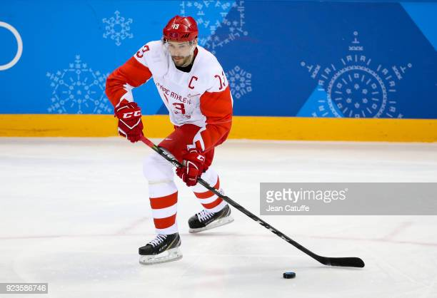 Pavel Datsyuk of OAR during Men's Semifinal ice hockey match between the Czech Republic and Olympic Athletes from Russia on day fourteen of the 2018...