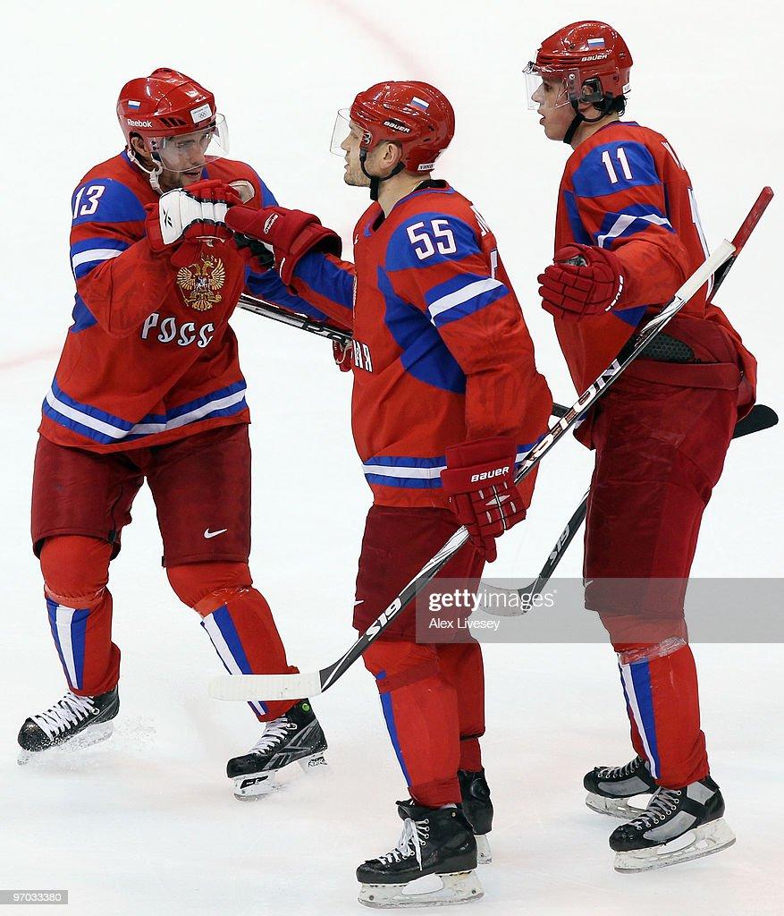 Ice Hockey Quarter Final - Day 13 - Russia v Canada : News Photo