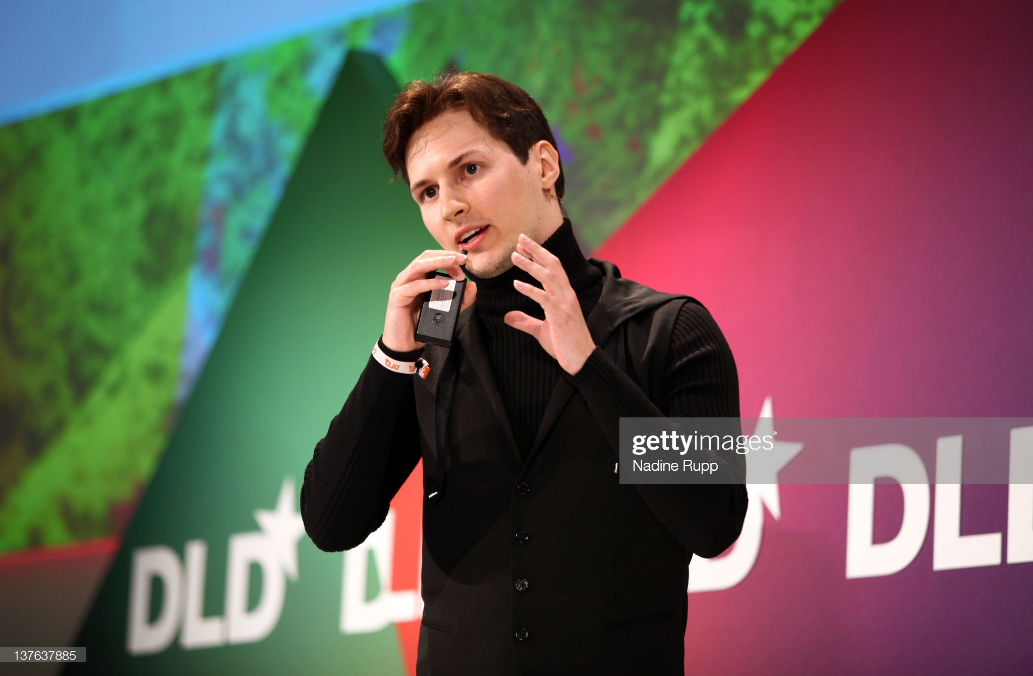 pavel durov in an event