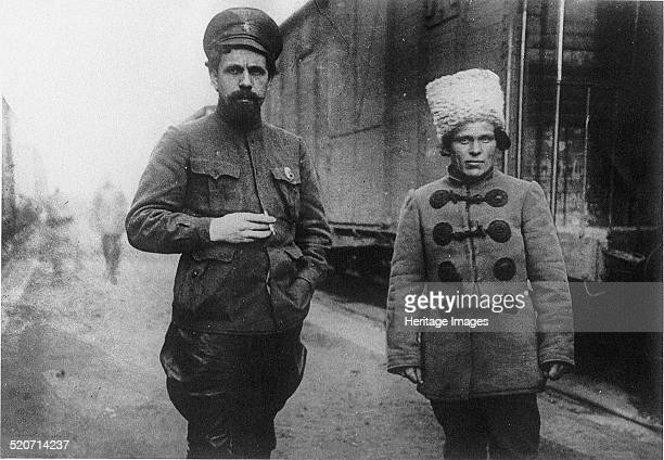 Pavel Dybenko and Nestor Makhno Found in the collection of State Museum of History Moscow