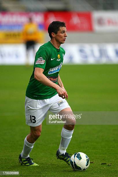Pavel Elias of FK Jablonec in action during the Czech First League match between FK Jablonec and SK Sigma Olomouc held on May 26, 2013 at the Chance...