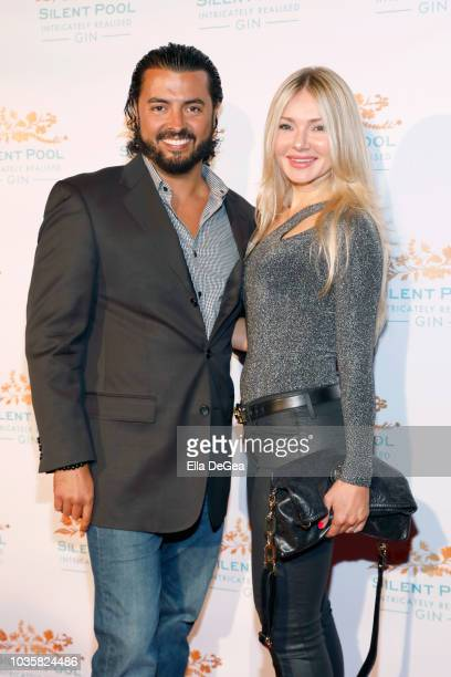 Pavel G Ferreri and Monika Sala attend the Silent Pool Gin Launch Party at Tom Tom on September 18 2018 in West Hollywood California