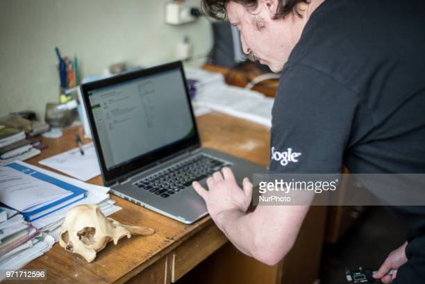 Pavel Goldin at his workplace in the National Academy of Sciences of Ukraine Kiev Ukraine on March 2018 Pavel Goldin is a scientist specializing in...