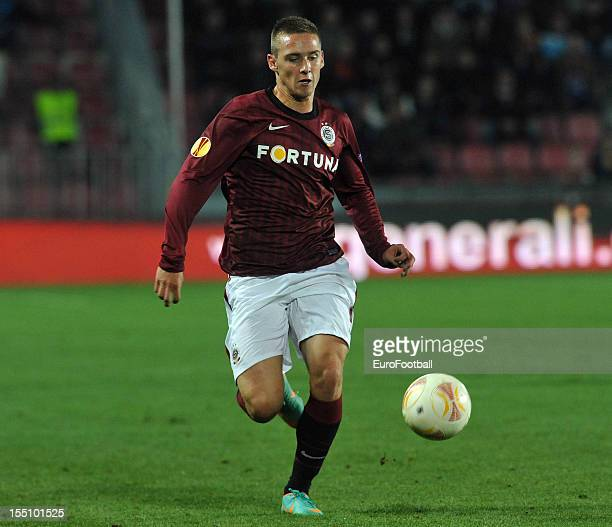 Pavel Kaderabek of AC Sparta Praha in action during the UEFA Europa League group stage match between AC Sparta Praha and Hapoel Kiryat Shmona FC held...