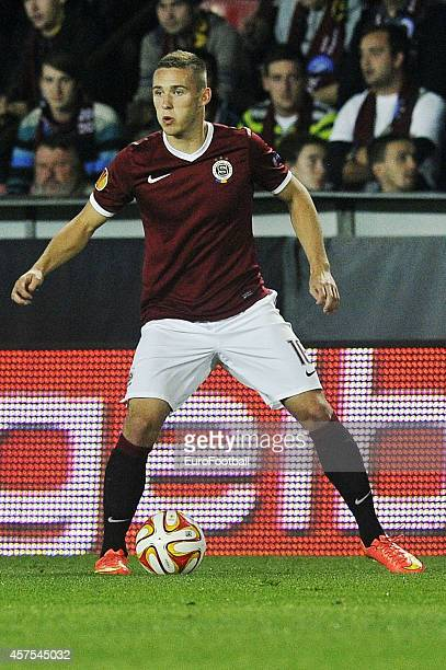 Pavel Kaderabek of AC Sparta Praha in action during the UEFA Europa League Group I match between AC Sparta Praha and BSC Young Boys at the Stadion...