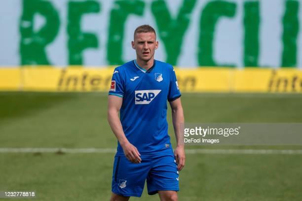 Pavel Kaderabek of TSG 1899 Hoffenheim Looks on during the Bundesliga match between TSG Hoffenheim and FC Schalke 04 at PreZero-Arena on May 8, 2021...