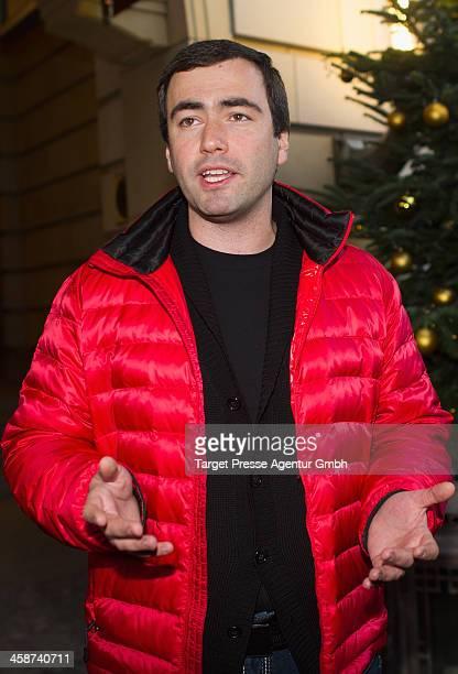 Pavel Khodorkovsky the son of Mikhail Kodorkovsky speaks to the media outside Hotel Adlon on December 21 2013 in Berlin Germany The oldest son...