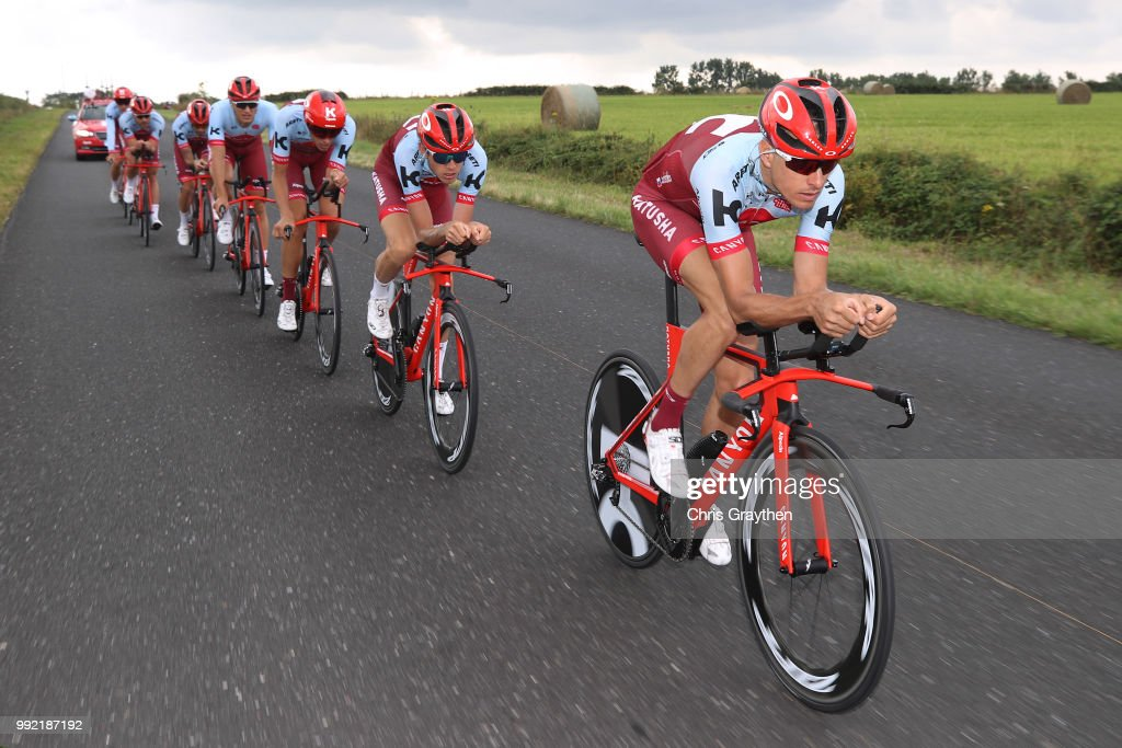 Pavel Kochetkov of Rusia and Team Katusha-Alpecin / during the 105th Tour de France 2018, Training / Team Time Trial / TTT / TDF / on July 5, 2018 in Cholet, France.