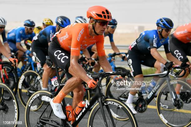 Pavel Kochetkov of Russia and CCC Team / Domenico Pozzovivo of Italy and NTT Pro Cycling Team / during the 6th UAE Tour 2020 Stage 4 a 173km stage...