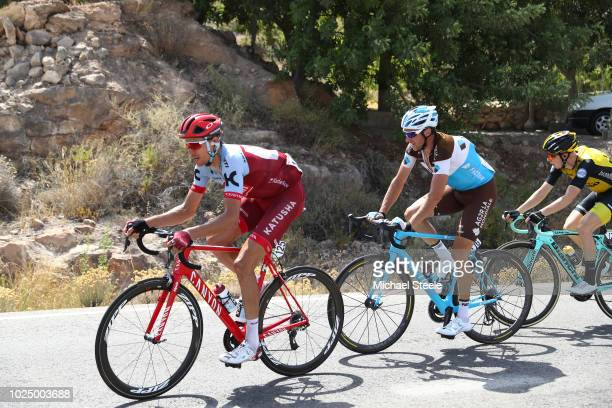 Pavel Kochetkov of Russia and Team Katusha Alpecin / Alexandre Geniez of France and Team AG2R La Mondiale / during the 73rd Tour of Spain 2018 Stage...