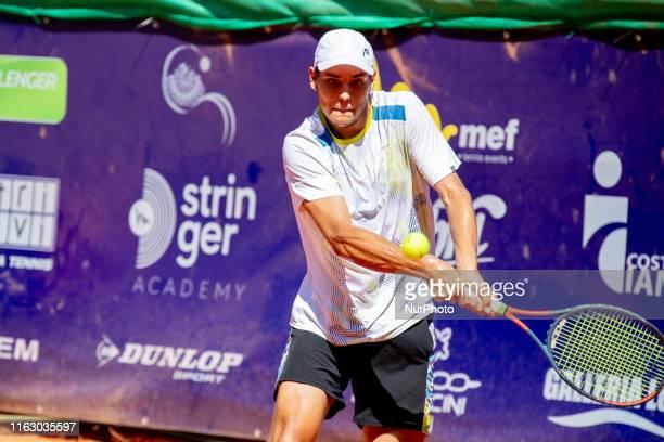 Pavel Kotov during the match between Pavel Kotov and Andrea Vavassori at the Internazionali di Tennis Citta' dell'Aquila in L'Aquila, Italy, on...