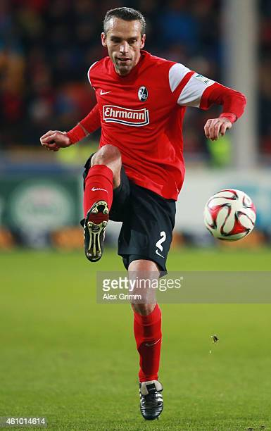 Pavel Krmas of Freiburg controles the ball during the Bundesliga match between SC Freiburg and Hannover 96 at SchwarzwaldStadion on December 21 2014...