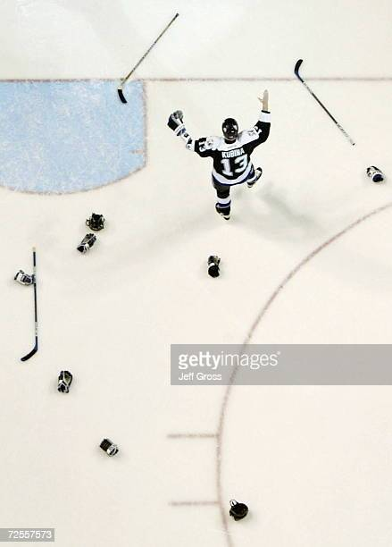 Pavel Kubina of the Tampa Bay Lightning celebrates after winning the Stanley Cup and defeating the Calgary Flames 21 in game seven of the NHL Stanley...