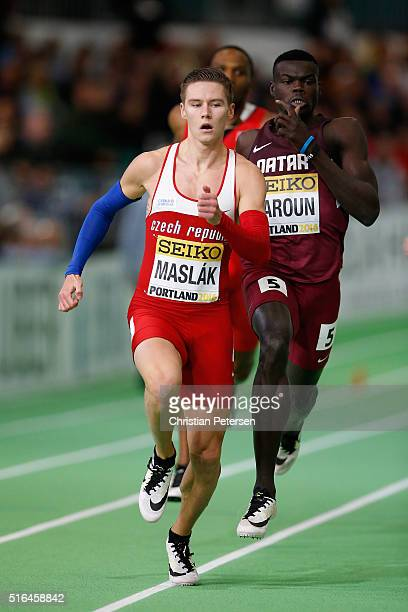 Pavel Maslak of the Czech Republic competes in the Men's 400 Metres SemiFinal during day two of the IAAF World Indoor Championships at Oregon...